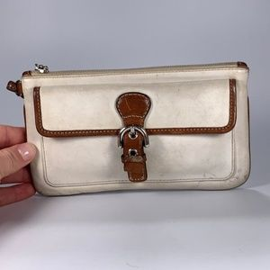 COACH Leather Wristlet Wallet Distressed